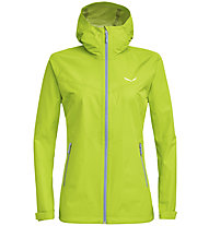 Salewa Aqua 3.0 Powertex - Wander - und Trekkingjacke - Damen, Light Green/Grey