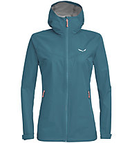 Salewa Aqua 3.0 Powertex - Wander - und Trekkingjacke - Damen, Light Blue/Light Red