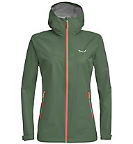 Salewa Aqua 3.0 Powertex - Wander - und Trekkingjacke - Damen, Dark Green/Light Red