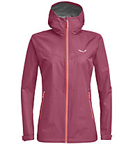 Salewa Aqua 3.0 Powertex - Wander - und Trekkingjacke - Damen, Dark Pink/Light Red