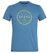 Salewa Base Camp Dri-Release - T-shirt trekking - uomo, Blue Sapphire