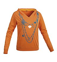Salewa Colier Kapuzenshirt Langarm Damen, Orange