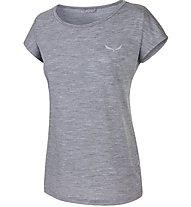 Salewa Compact Merino Wo - T-shirt trekking - donna, Light Grey