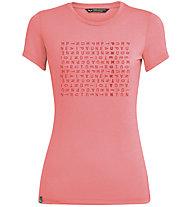 Salewa Crosswords Dri-Rel - T-shirt - donna, Pink