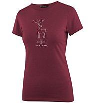 Salewa Deer Dri-Release - T-shirt trekking - donna, Dark Red