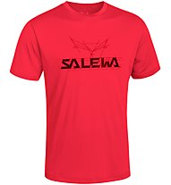 Salewa Puez (Dreizin) Dry'ton - T-shirt trekking - uomo, Red
