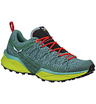Salewa Dropline - scarpe trail running - donna, Green/Red/Yellow