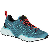 Salewa Dropline GTX - scarpe speed hiking - donna, Light Blue/Red