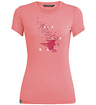 Salewa Eagle Figure Dri-Rel - T-shirt - donna, Pink
