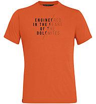 Salewa Engineered Dri-Rel - T-shirt - Herren, Orange/Black
