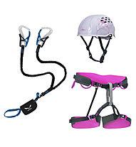 Salewa Damen-Set bestehend aus Klettersteigset + Klettergurt + Helm