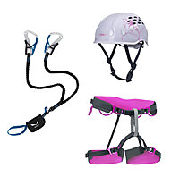 Salewa Kit donna composto da set via ferrata + imbrago + casco