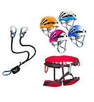 Salewa Set bestehend aus Klettersteigset + Klettergurt + Helm