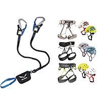 Salewa Set bestehend aus Klettersteigset Ergo Tex + Gurt und Helm deiner Wahl