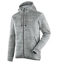 Salewa Fanes - giacca in pile con cappuccio - uomo, Grey