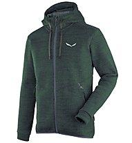 Salewa Fanes - giacca in pile con cappuccio - uomo, Green