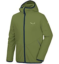 Salewa Fanes 2 SW K Jkt Kinder Softshell- und Windjacke, Green