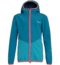 Salewa Fanes 2 - Softshelljacke Wandern - Kinder, Blue/Light Blue