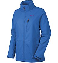 Salewa Puez Clastic Powertex 2L Wanderjacke Damen mit Kapuze, Light Blue