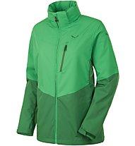 Salewa Puez Clastic Powertex 2L Wanderjacke Damen mit Kapuze, Green