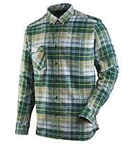 Salewa Fanes Flannel - Langarmhemd Wandern - Herren, Green