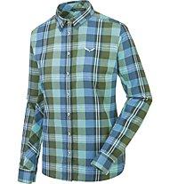 Salewa Fanes Flannel 2 PL - Langarmbluse Wandern - Damen, Green/Blue