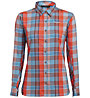 Salewa Fanes Flannel 2 - camicia a maniche lunghe - donna, Orange/Light Blue