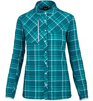 Salewa Fanes Flannel 4 Pl - Langarm-Bluse Bergsport - Damen, Light Blue