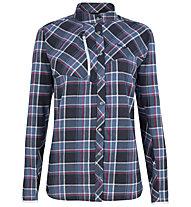 Salewa Fanes Flannel 4 Pl - Langarm-Bluse Bergsport - Damen, Dark Blue/Blue/Red