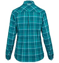 Salewa Fanes Flannel 4 Pl - camicia a maniche lunghe - donna, Light Blue