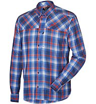 Salewa Fanes Flannel Pl M L/S Srt langärmeliges Herrenhemd, Blue