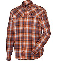 Salewa Fanes Flannel Pl M L/S Srt langärmeliges Herrenhemd, Orange