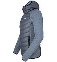 Salewa Fanes Sarner Dwn Hybrid - giacca ibrida - uomo, Grey/Black