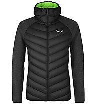 Salewa Fanes Sarner Dwn Hybrid - giacca ibrida - uomo, Black/Green