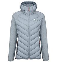 Salewa Fanes Sarner Dwn Hybrid - giacca ibrida - donna, Light Grey