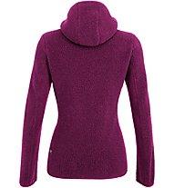 Salewa Fanes Shearling Wool - giacca con cappuccio - donna, Violet/Red