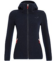 Salewa Fanes Shearling Wool - Kapuzenjacke Bergsport - Damen, Dark Blue/Red