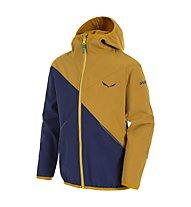 Salewa Fanes - giacca softshell trekking - bambino, Blue/Yellow