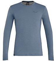 Salewa Fanes Wool L/S - maglia a maniche lunghe - uomo, Light Blue
