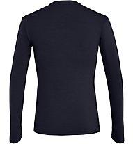 Salewa Fanes Wool L/S - maglia a maniche lunghe - uomo, Dark Blue