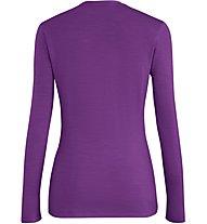 Salewa Fanes Wool L/S - maglia a maniche lunghe - donna, Violet