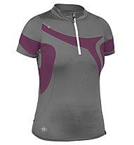 Salewa Fastway DRY W S/S Tee T-Shirt trailrunning, Smoke