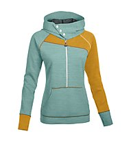 Salewa Foxy Lady PL - felpa con cappuccio arrampicata - donna, Willow Green
