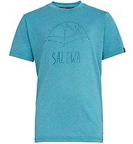 Salewa Frea Melange Dry - T-Shirt Bergsport - Kinder, Azure