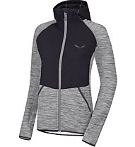 Salewa Frea Quilt Pl W Fz Hdy Damen Fleecejacke, Grey/Black