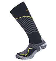 Salewa FSM Warm Merino Socks Calze da sci, Black/Yellow