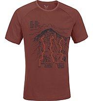 Salewa Ghilini Piola Dry'ton T-Shirt  arrampicata, Indio