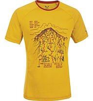 Salewa Ghilini Piola Dry'ton - T-Shirt arrampicata - uomo, Nugget Gold