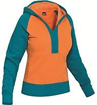 Salewa Goodline CO - felpa con cappuccio arrampicata - donna, Orange/Blue