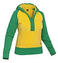 Salewa Goodline CO - felpa con cappuccio arrampicata - donna, Yellow/Green